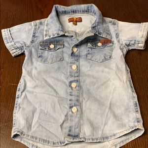 7 for all mankind 18m Jean shirt! Unisex